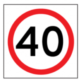 Temporary Traffic Signs 40 IN ROUNDEL