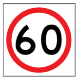 Temporary Traffic Signs 60 IN ROUNDEL