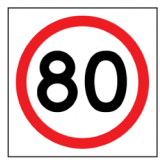 Temporary Traffic Signs 80 IN ROUNDEL