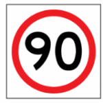Temporary Traffic Signs 90 IN ROUNDEL