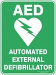 Emergency Signs AED - AUTOMATED EXTERNAL DEFIBRILLATOR