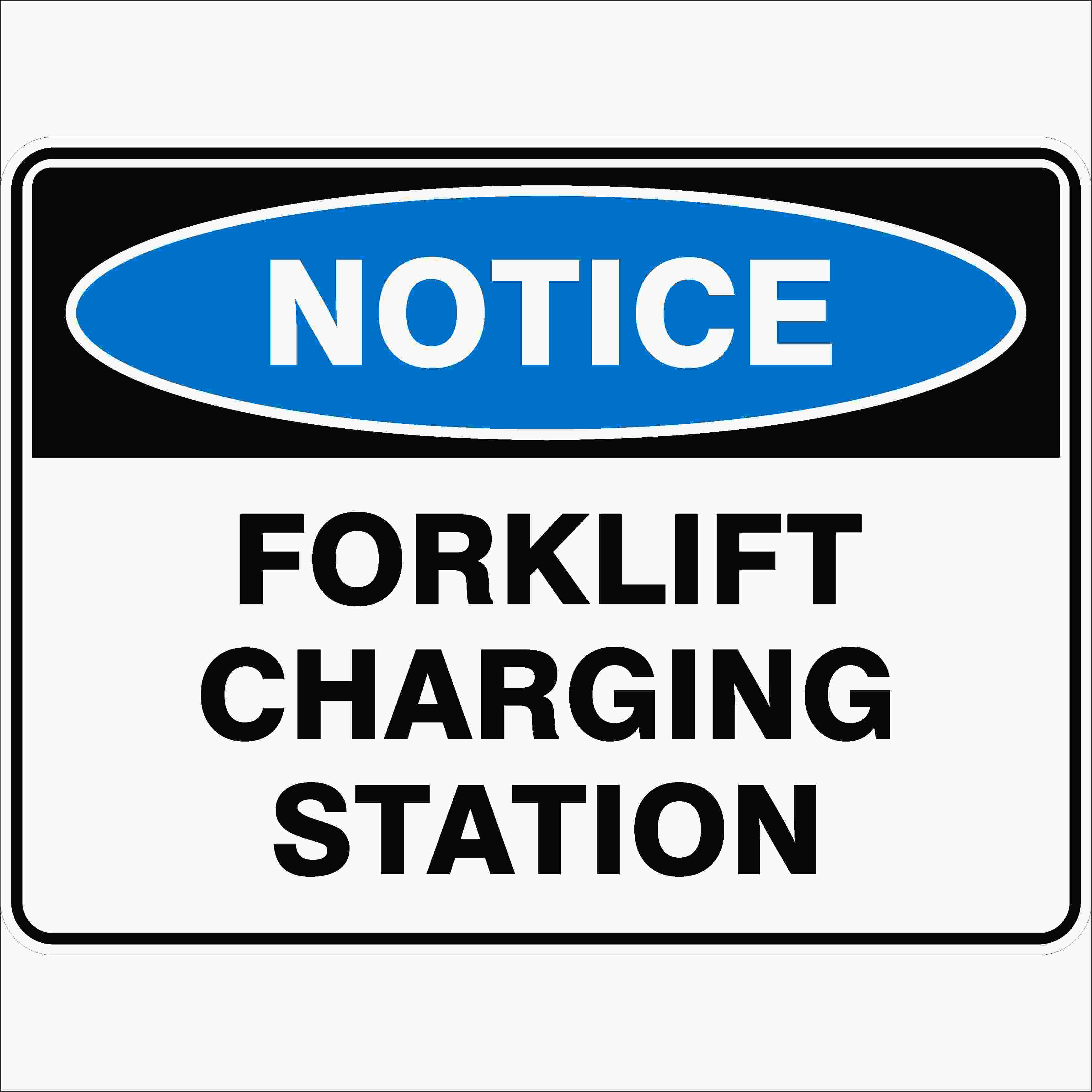 Notice Signs FORKLIFT CHARGING STATION