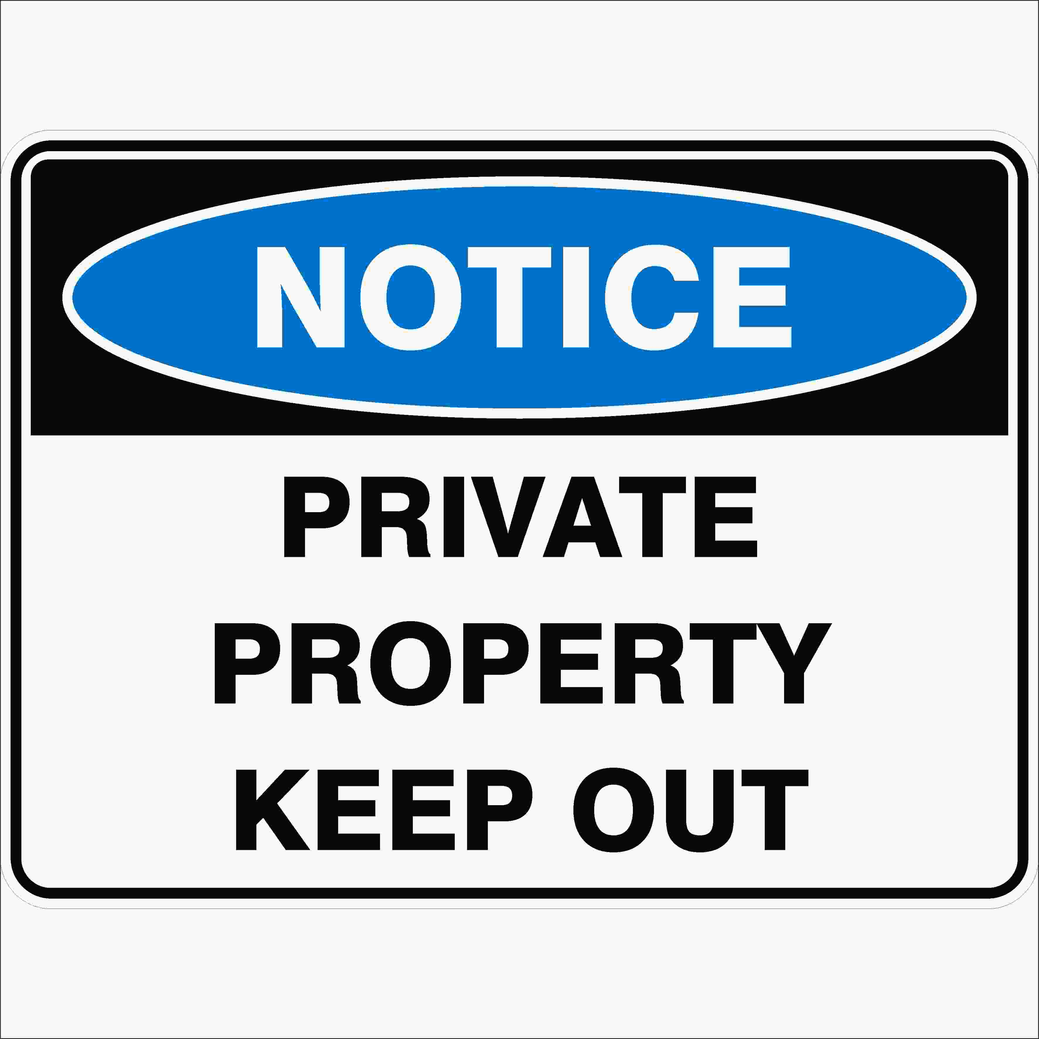 Private Property Sign Metal Pack Of