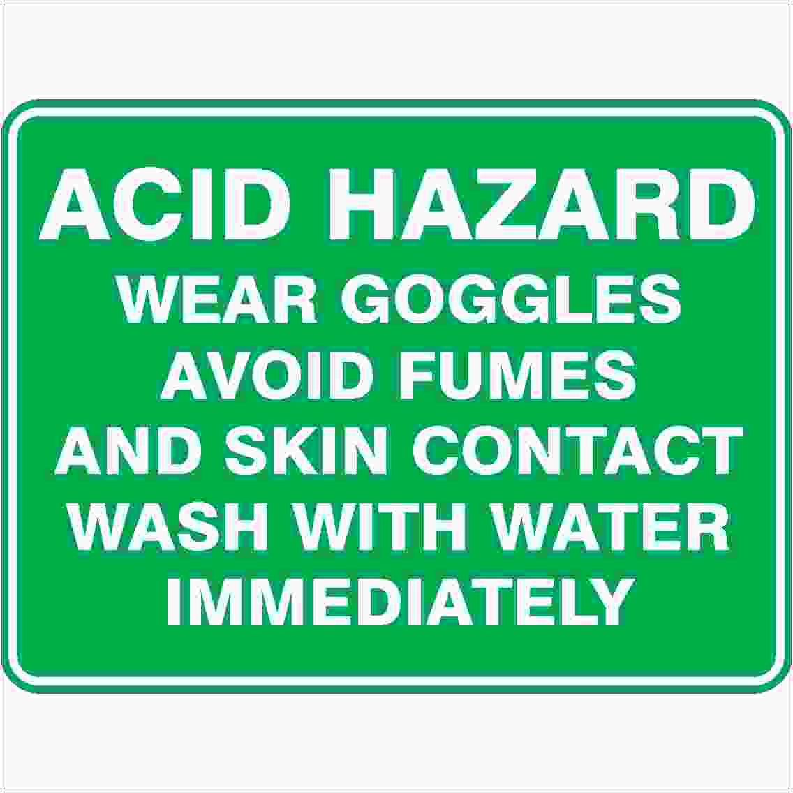 Emergency Signs ACID HAZARD