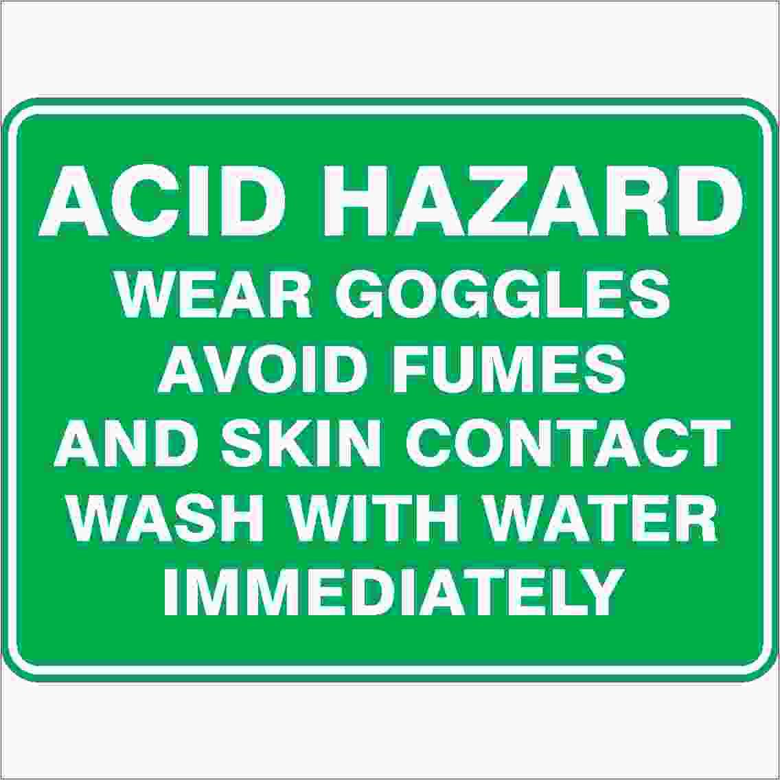 Emergency Signs ACID HAZARD