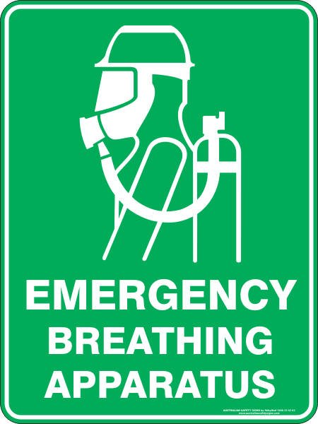 Emergency Signs EMERGENCY BREATHING APPARATUS
