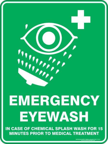 Emergency Signs EMERGENCY EYE WASH
