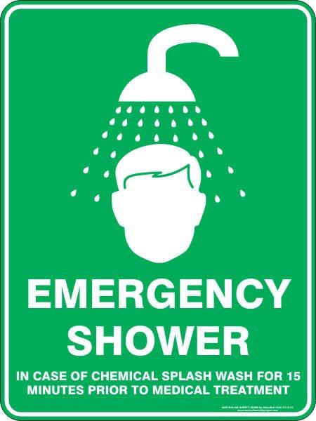 Emergency Signs EMERGENCY SHOWER
