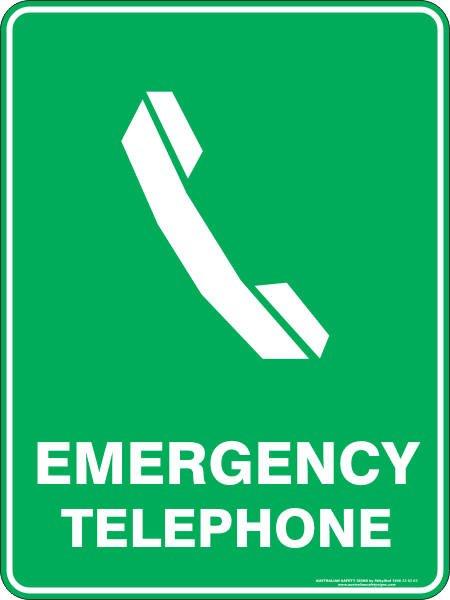 Emergency Signs EMERGENCY TELEPHONE