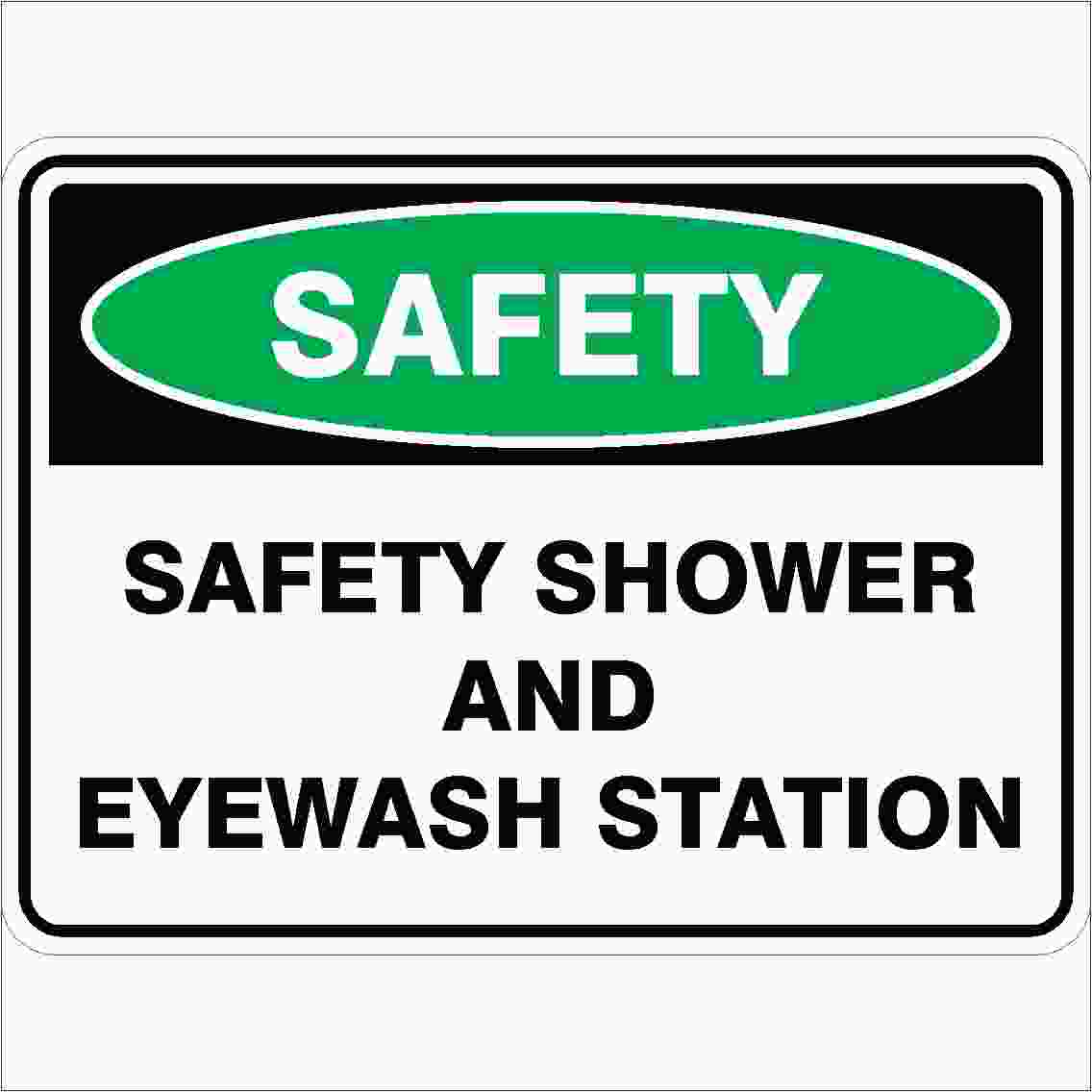 Emergency Signs SAFETY SHOWER AND EYE WASH STATION