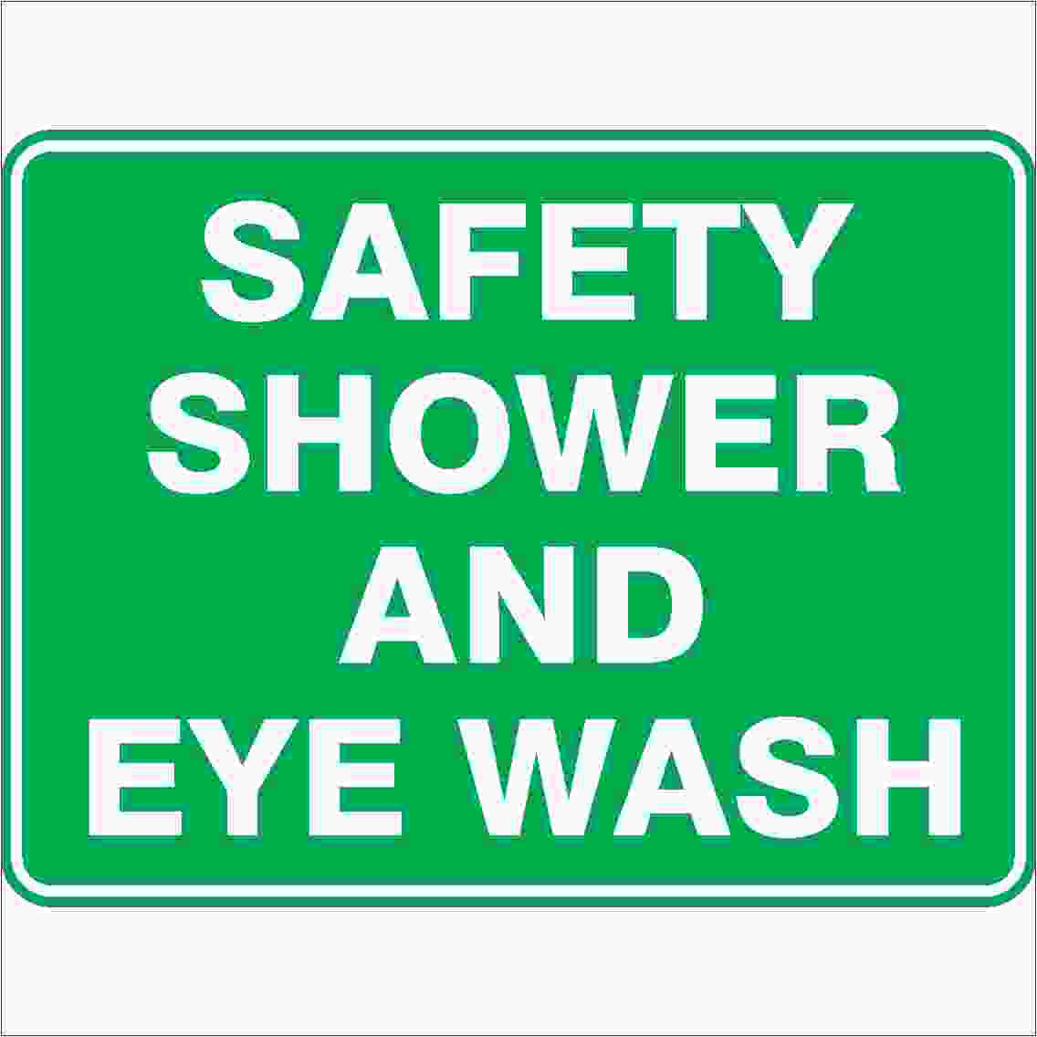 Emergency Signs SAFETY SHOWER AND EYE WASH