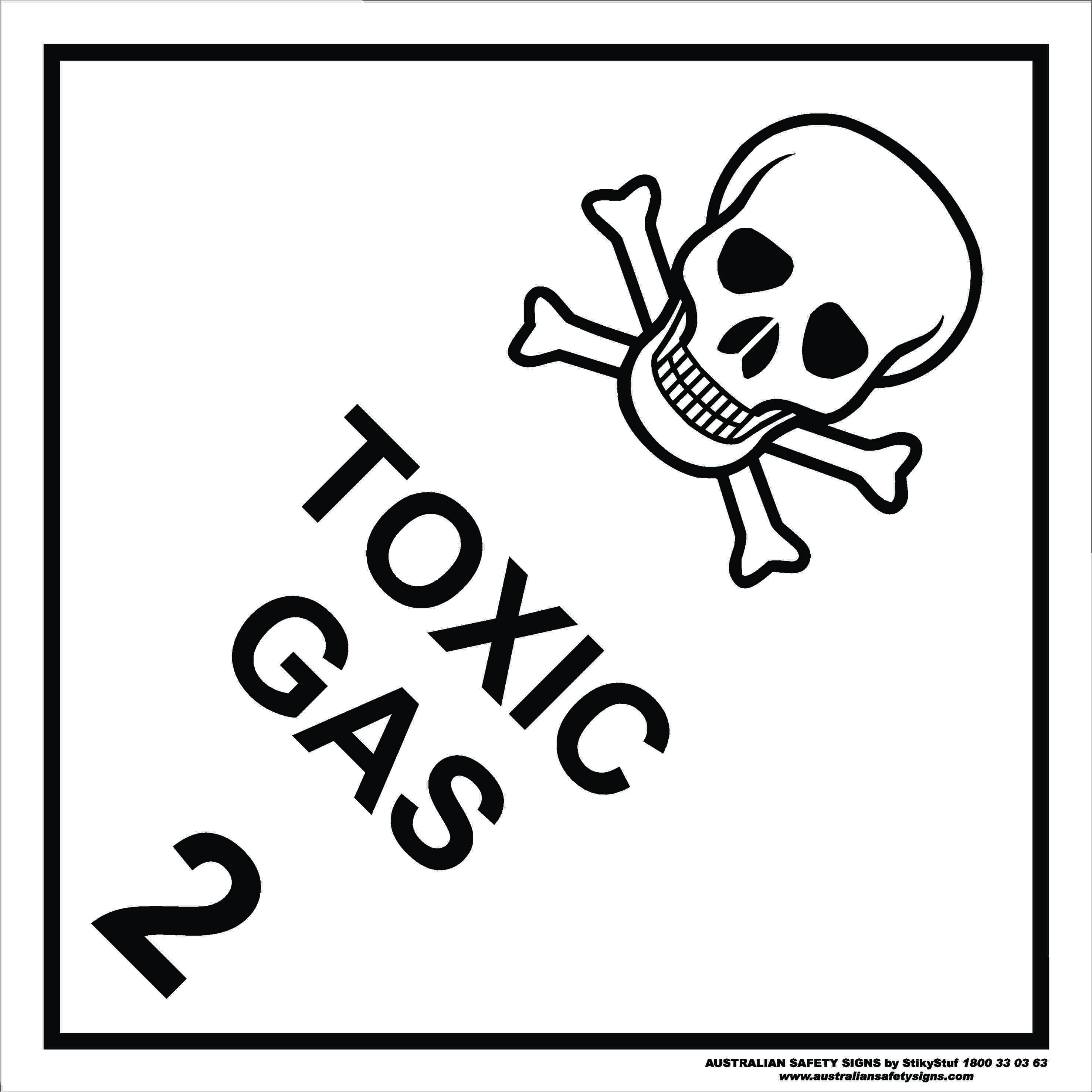 Hazchem Signs CLASS 2 - TOXIC GAS