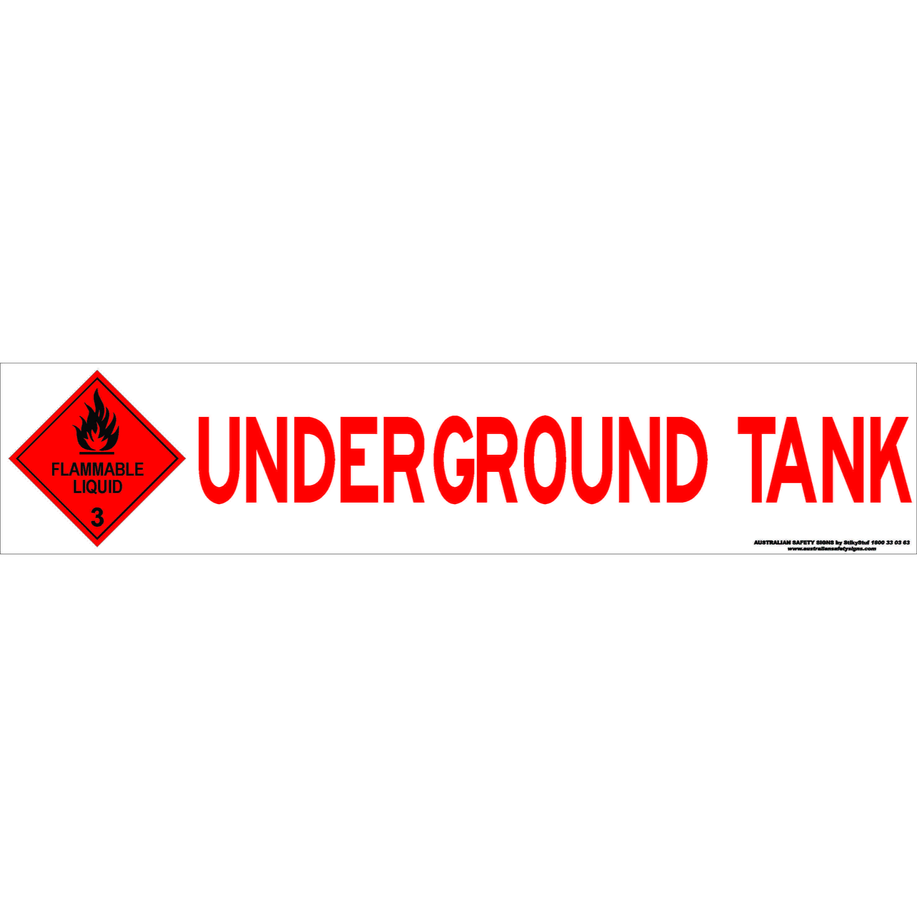 Hazchem Signs UNDERGROUND TANK WITH CLASS 3 DIAMOND