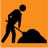 Temporary Traffic Signs SYMBOLIC WORKER PICTOGRAM