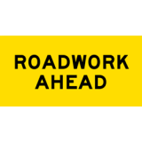 Temporary Traffic Signs ROADWORK AHEAD