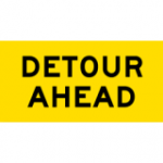 Temporary Traffic Signs DETOUR AHEAD
