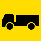 Temporary Traffic Signs SYMBOLIC TRUCK