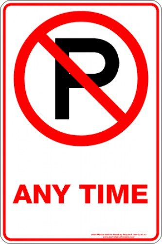 Parking Signs ANYTIME P