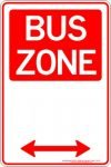 Parking Signs BUS ZONE SPAN ARROW