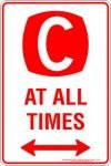 Parking Signs CLEARWAY AT ALL TIMES