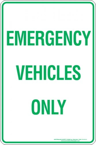 Parking Signs EMERGENCY VEHICLES ONLY