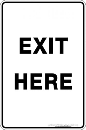 Parking Signs|Traffic Signs EXIT HERE