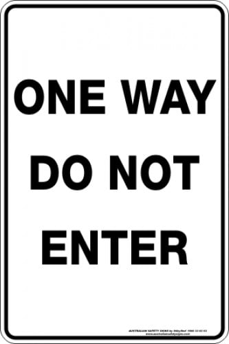 Parking Signs|Traffic Signs ONE WAY DO NOT ENTER