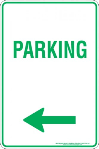 Parking Signs PARKING ARROW LEFT