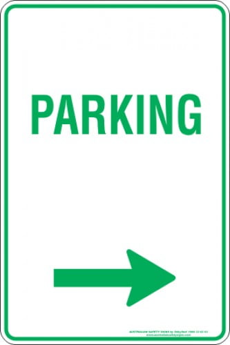 Parking Signs PARKING ARROW RIGHT