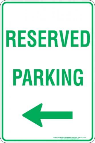 Parking Signs RESERVED PARKING ARROW LEFT