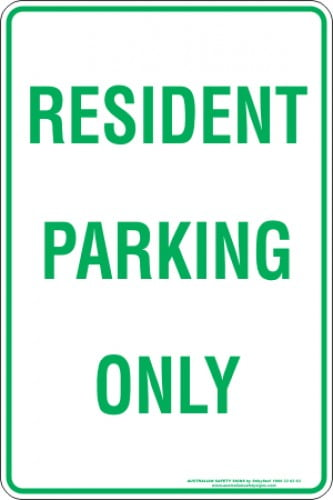 Parking Signs RESIDENT PARKING ONLY