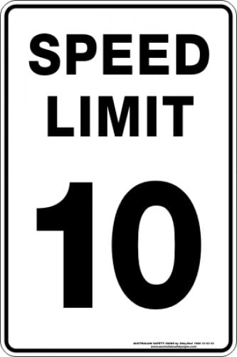 Parking Signs|Traffic Signs SPEED LIMIT 10