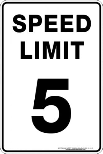 Parking Signs SPEED LIMIT 5