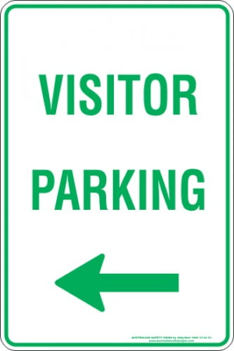 Parking Signs VISITOR PARKING ARROW LEFT
