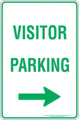Parking Signs VISITOR PARKING ARROW RIGHT