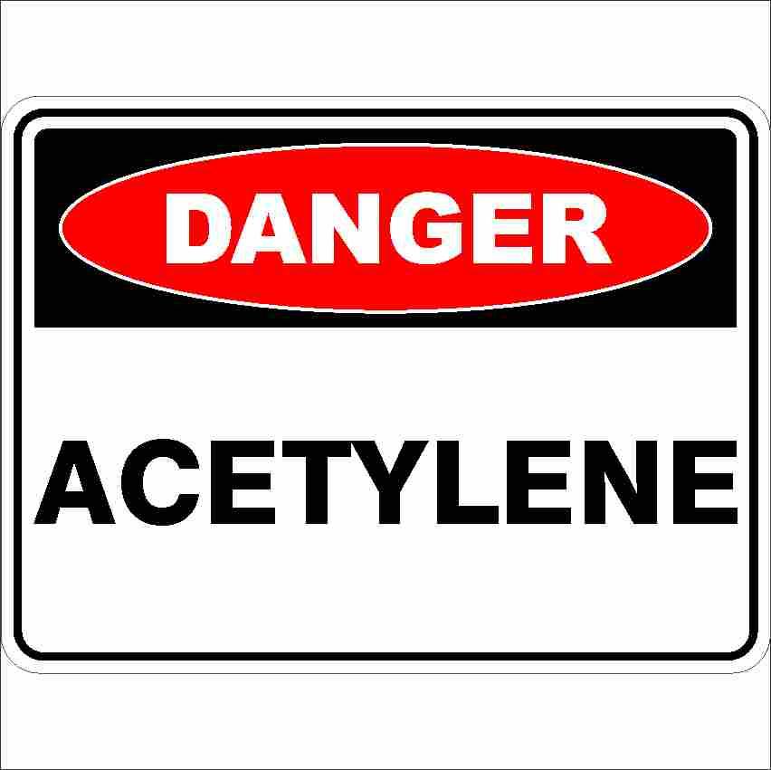 Danger Signs ACETYLENE