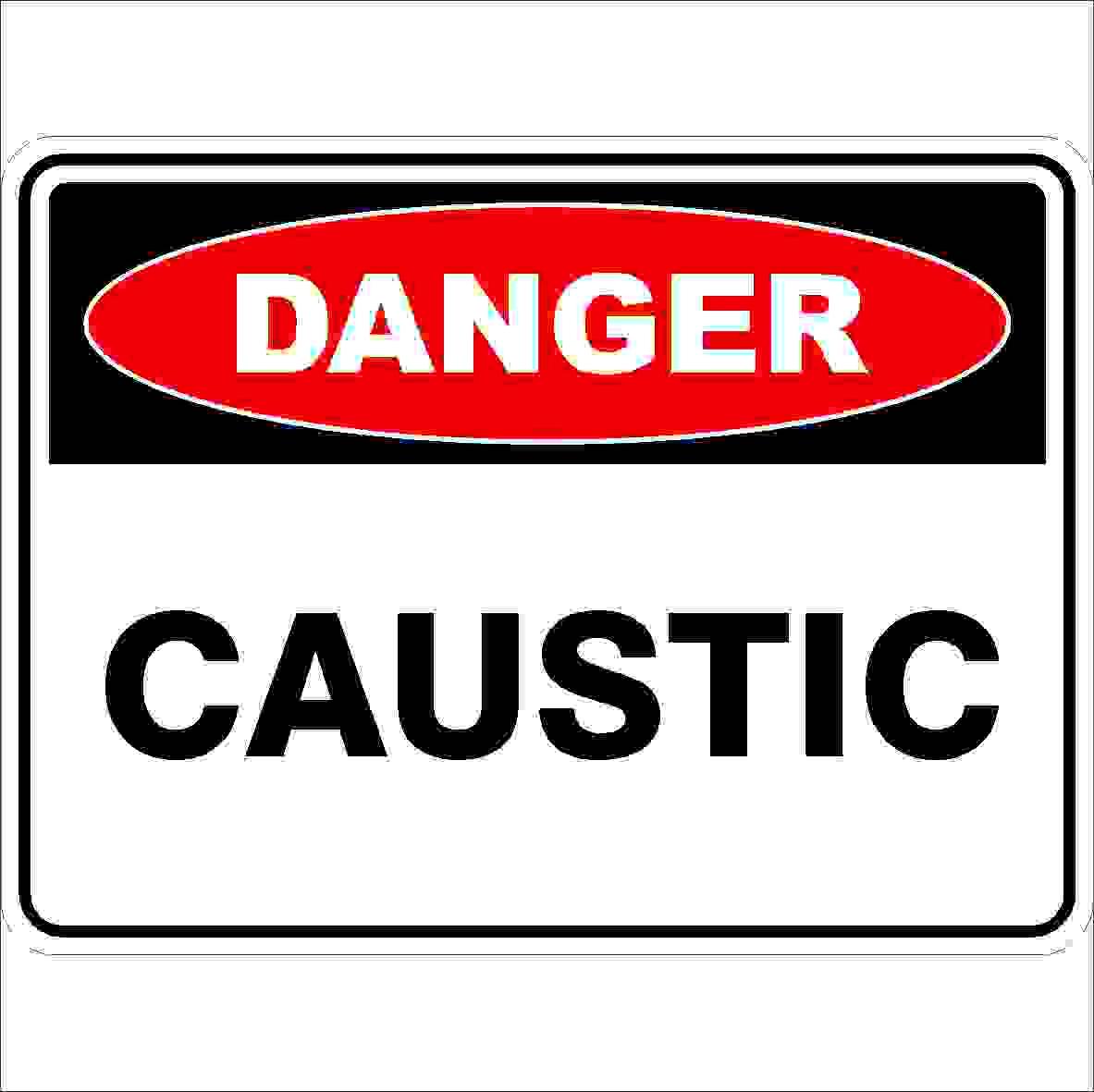 Danger Signs CAUSTIC