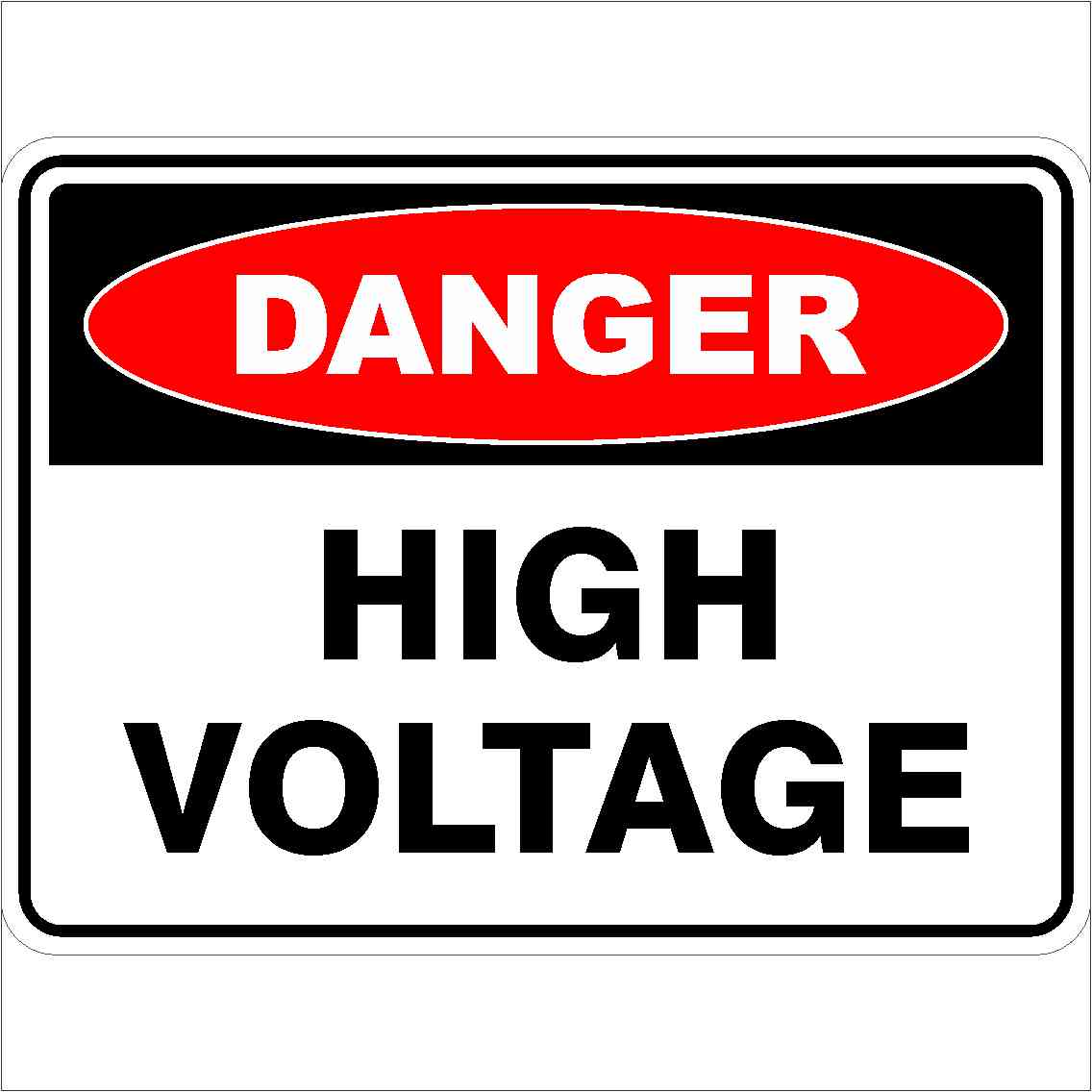 High Voltage Ppe : High voltage discount safety signs new zealand