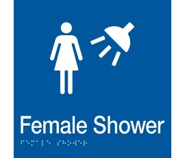 Braille Signs Female Shower Sign FS-BLUE