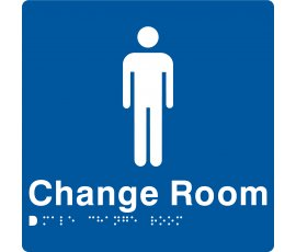 Braille Signs Male Change Room Sign MCR-BLUE