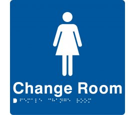 Braille Signs Female Change Room Sign FCR-BLUE