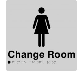 Braille Signs Female Change Room Sign FCR-SILVER
