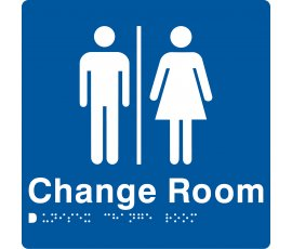 Braille Signs Unisex Change Room Sign MFCR-BLUE