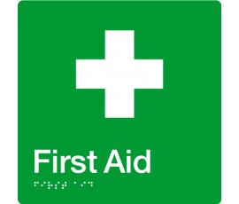 Braille Signs First Aid Sign FA-GREEN