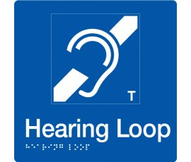 Braille Signs Hearing Loop Sign HL-BLUE