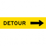Temporary Traffic Signs DETOUR (ARROW RIGHT)
