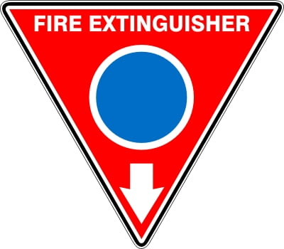 Fire Safety Signs EXTINGUISHER ID MARKER TRI FOAM