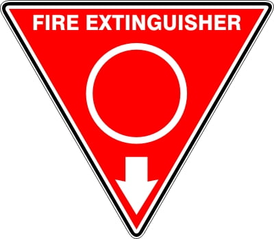 Fire Safety Signs EXTINGUISHER ID MARKER TRI WATER