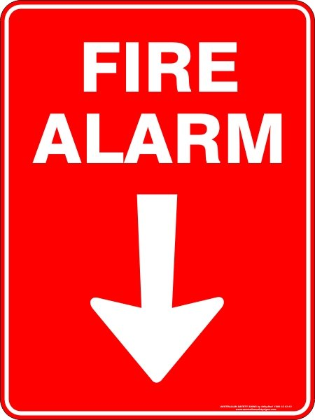 Fire Safety Signs FIRE ALARM