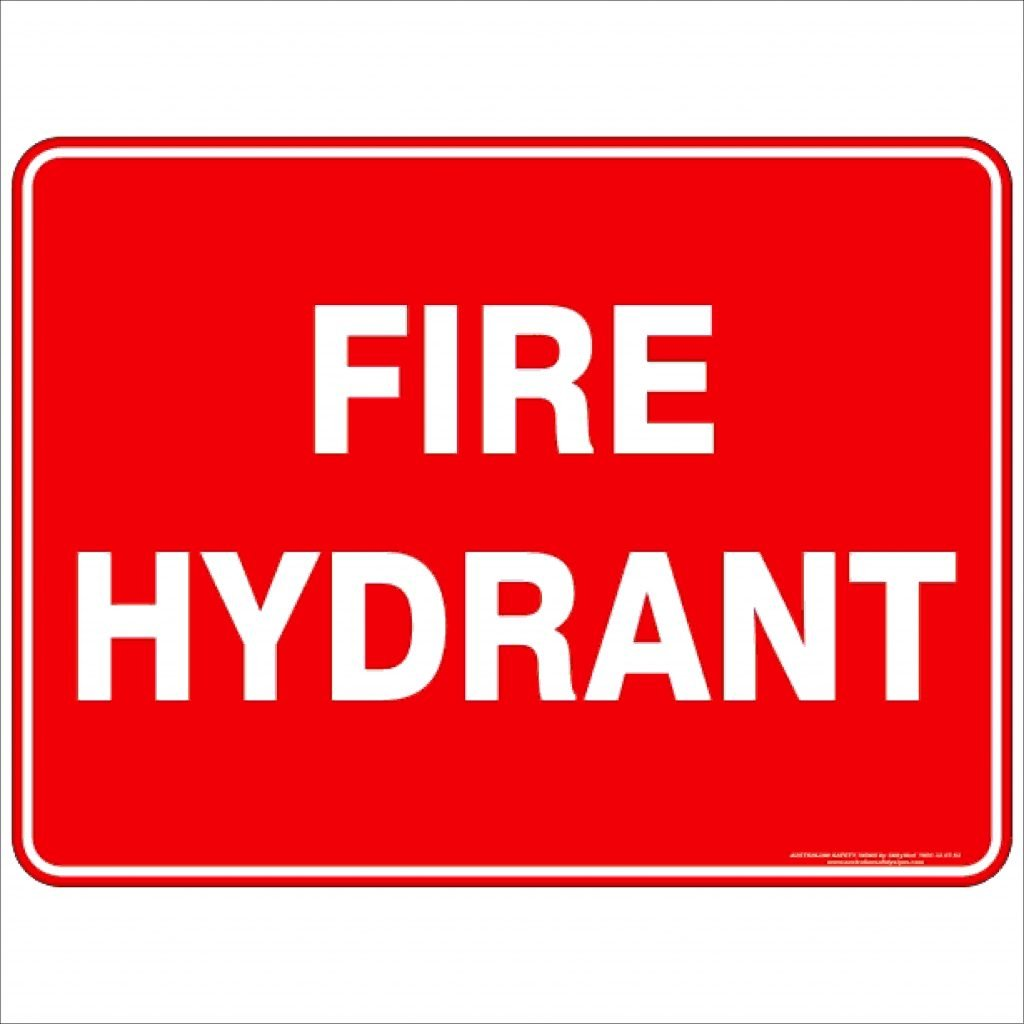 Fire Hydrant Text Discount Safety Signs New Zealand